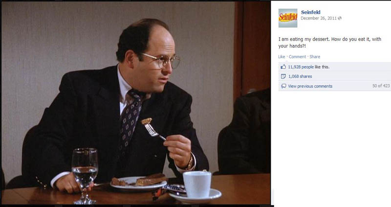 knife fork chocolate bar seinfeld 50 Glorious Moments on Seinfeld