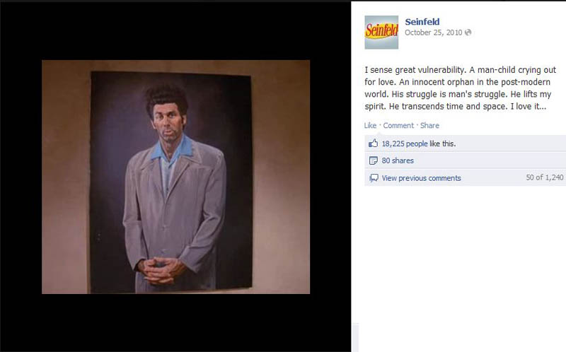 kramer portrait seinfeld 50 Glorious Moments on Seinfeld