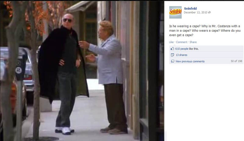 man in a cape seinfeld 50 Glorious Moments on Seinfeld