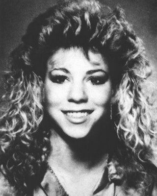 mariah carey big hair high school teenager younger childhood picture 40 Music Stars Before They Were Famous