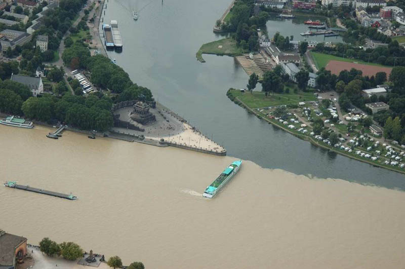 mosel and rhine rivers confluence in koblenz germany When Rivers Collide: 10 Confluences Around the World