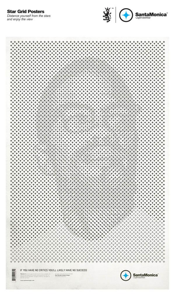 star grid posters mark brooks santamonica 12 13 Creative Star Grid Posters by Mark Brooks