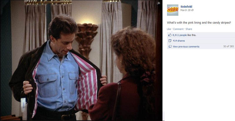 striped jacked seinfeld 50 Glorious Moments on Seinfeld