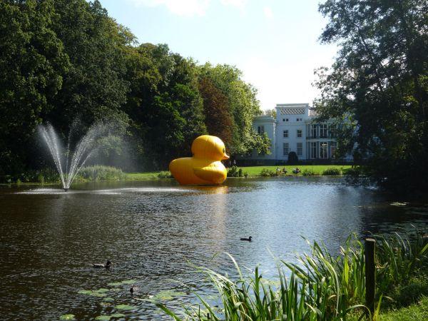 wassenaar the netherlands giant inflatable rubber ducky florentijn hofman 2 The World Travels of a Giant Rubber Duck