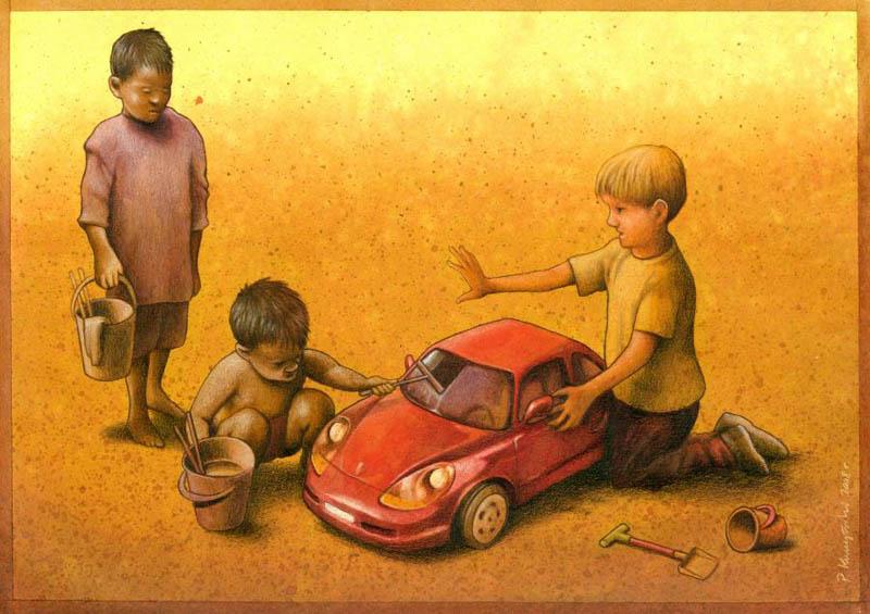 artwork satire cartoonist pawel kuczynski polish 1 Brilliant Satirical Artwork by Pawel Kuczynski