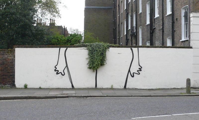 banksy bush trim street art 2 10 Latest Artworks from Banksy