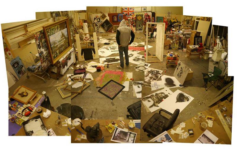 banksy in his art studio 10 Latest Artworks from Banksy