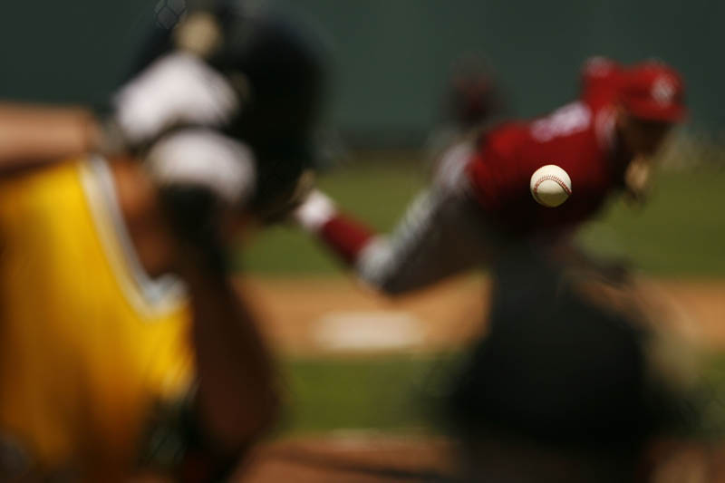 baseball in focus pitcher batter blurred out of focus Picture of the Day: A Most Incredible Baseball Photo