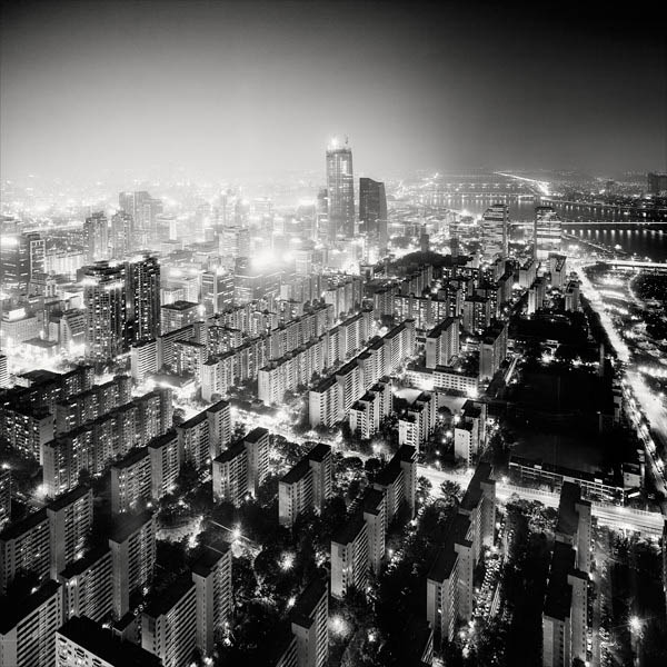 black and white cityscape night photography martin stavars 14 Dramatic Black and White Cityscapes at Night