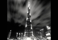 Dramatic Black and White Cityscapes at Night
