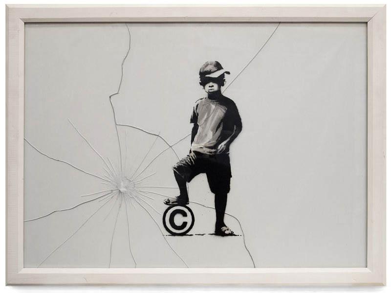 breaking copyright banksy 10 Latest Artworks from Banksy