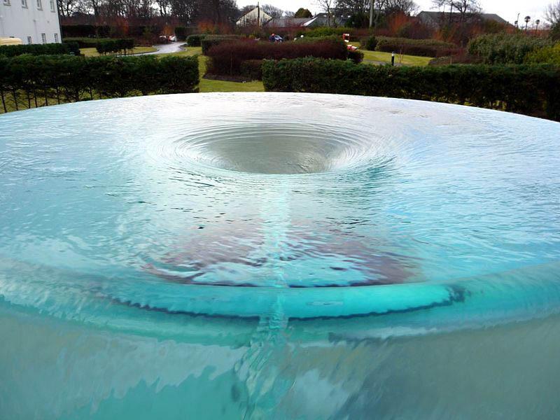 charybdis water vortex sculpture by william pye at seaham hall hotel sunderland 1 Amazing Vortex Water Sculpture by William Pye