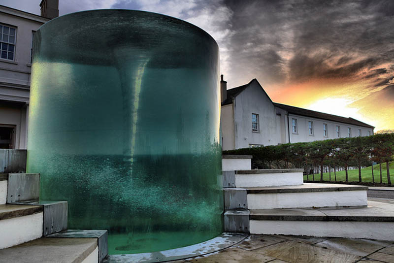 charybdis water vortex sculpture by william pye at seaham hall hotel sunderland 2 Amazing Vortex Water Sculpture by William Pye