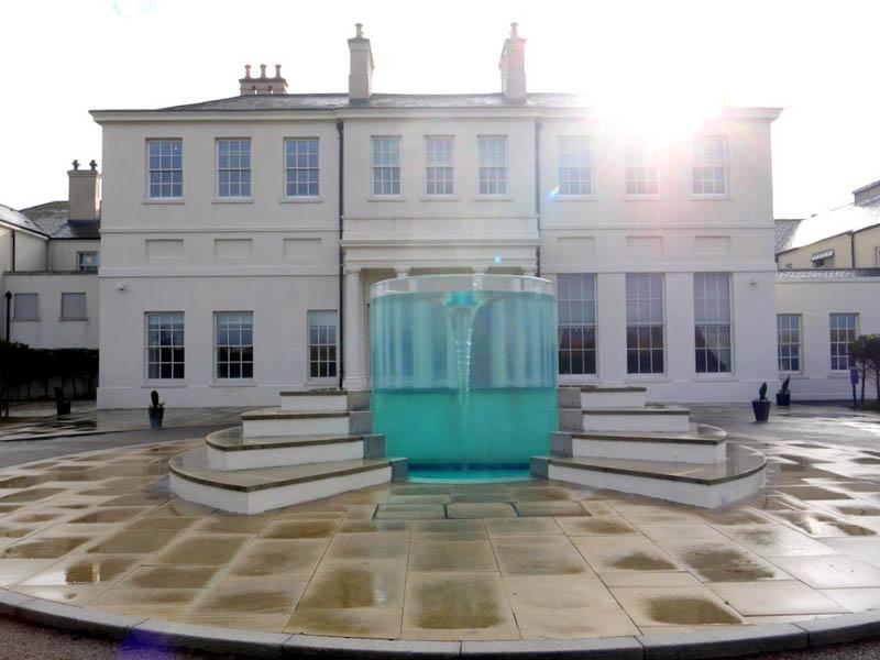 charybdis water vortex sculpture by william pye at seaham hall hotel sunderland 3 Amazing Vortex Water Sculpture by William Pye