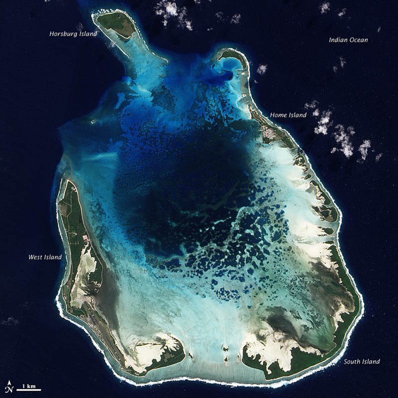 cocos keeling islands aerial from above space Picture of the Day: The Cocos (Keeling) Islands from Space