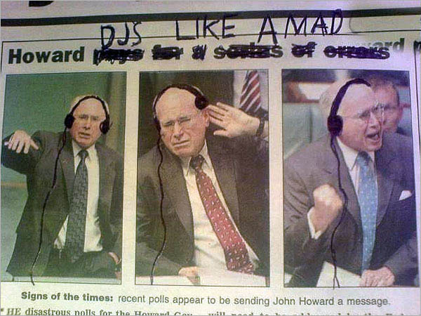 dj john howard funny photoshop newspaper clip 15 Famous People That Are Also Superstar DJs