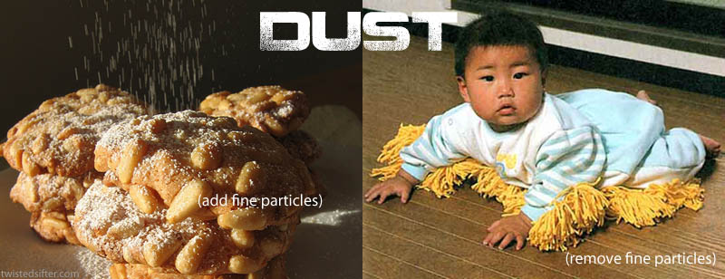 dust contronym Visualizing Contronyms Using Pictures
