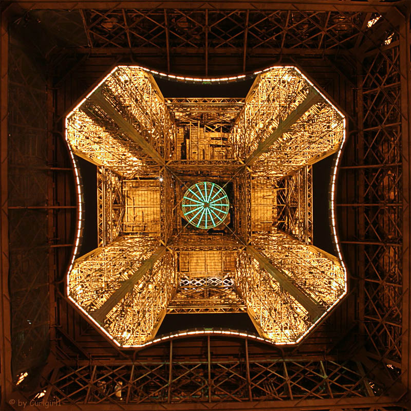eiffel tower from below looking up at night 15 Photos Looking Straight Up the Eiffel Tower