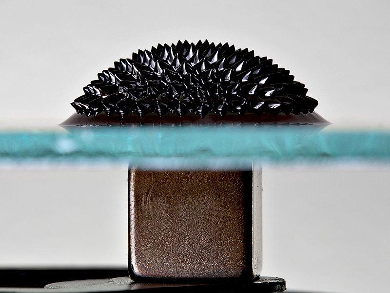 ferrofluid magnet under glass The Hypnotic Magnetism of Ferrofluids