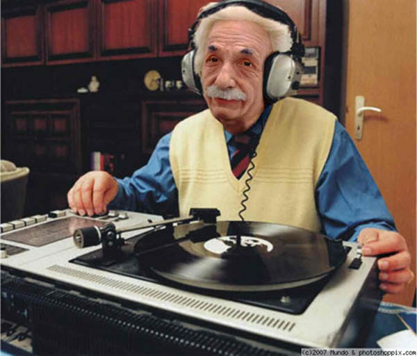 funny dj albert einstein photoshop picture 15 Famous People That Are Also Superstar DJs