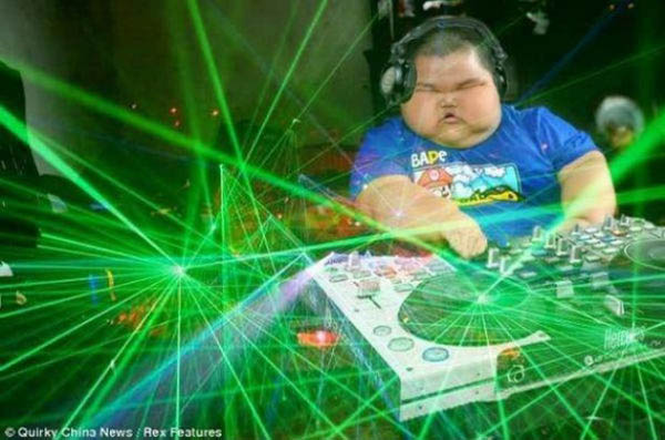 funny dj fat kid chubby cheeks photoshop 15 Famous People That Are Also Superstar DJs