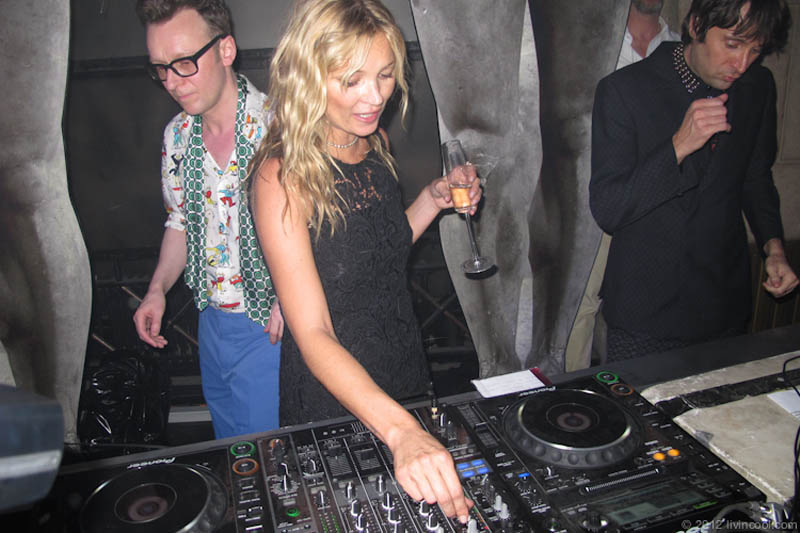 funny dj kate moss picture 15 Famous People That Are Also Superstar DJs