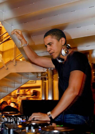 funny dj obama picture photoshop 1 15 Famous People That Are Also Superstar DJs