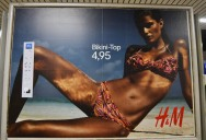 Anonymous Street Artist Adds Photoshop Toolbar to H&M Billboards