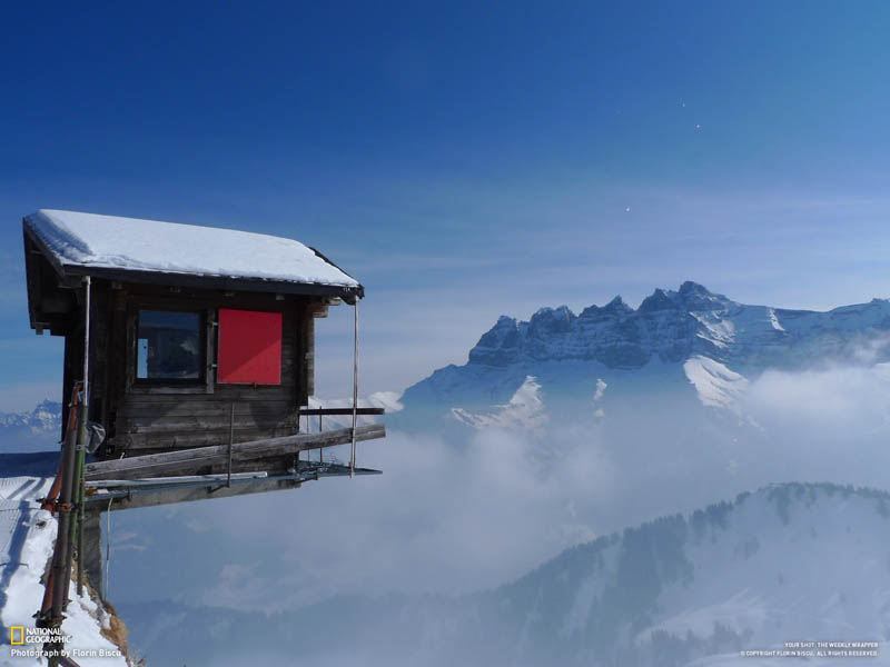 les dents du midi seen from champoussin switzerland Picture of the Day: Watch Your Step