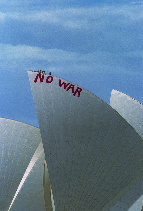 no war 1 2003 c dean sewell Billboard Bandits: An Intimate Portrayal of Culture Jamming