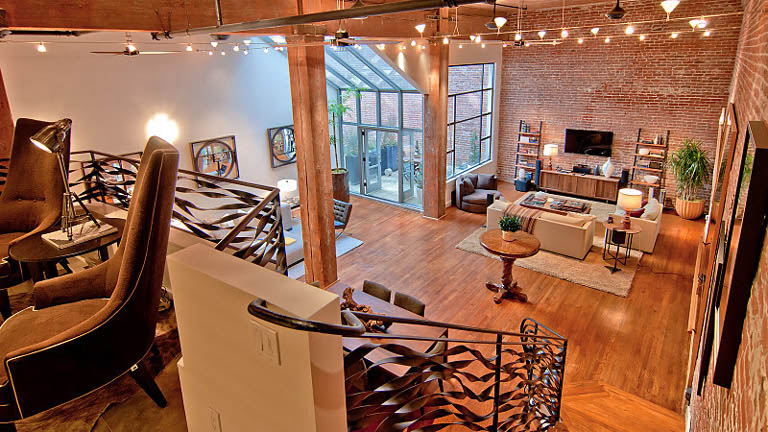open concept hard loft exposed brick south beach san francisco 355 bryant 14 Stunning Open Concept Loft with Exposed Brick