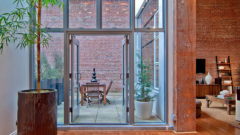 open concept hard loft exposed brick south beach san francisco 355 bryant 17 Stunning Open Concept Loft with Exposed Brick