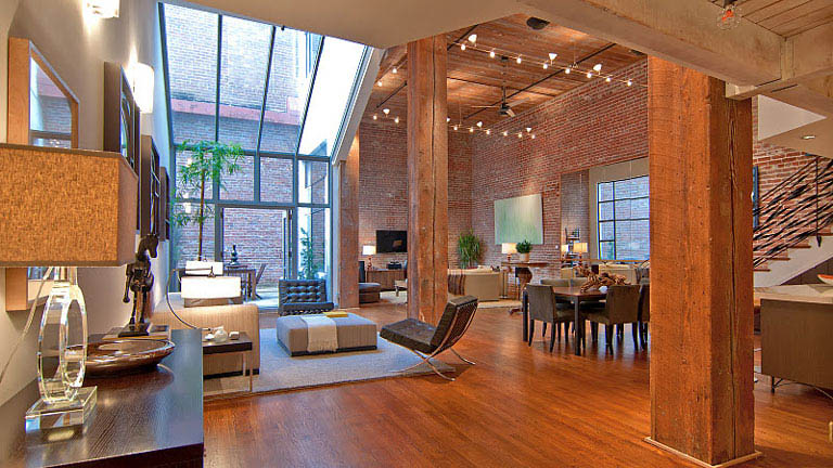 open concept hard loft exposed brick south beach san francisco 355 bryant 2 Amazing Warehouse Apartments Conversion in Melbourne