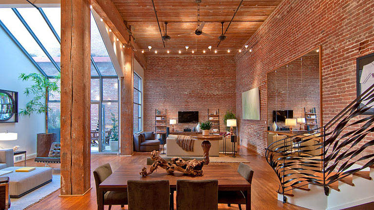 open concept hard loft exposed brick south beach san francisco 355 bryant 3 Stunning Open Concept Loft with Exposed Brick