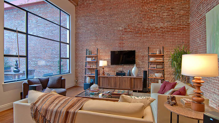open concept hard loft exposed brick south beach san francisco 355 bryant 4 Stunning Open Concept Loft with Exposed Brick