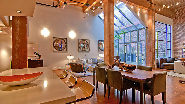 open concept hard loft exposed brick south beach san francisco 355 bryant 7 Stunning Open Concept Loft with Exposed Brick