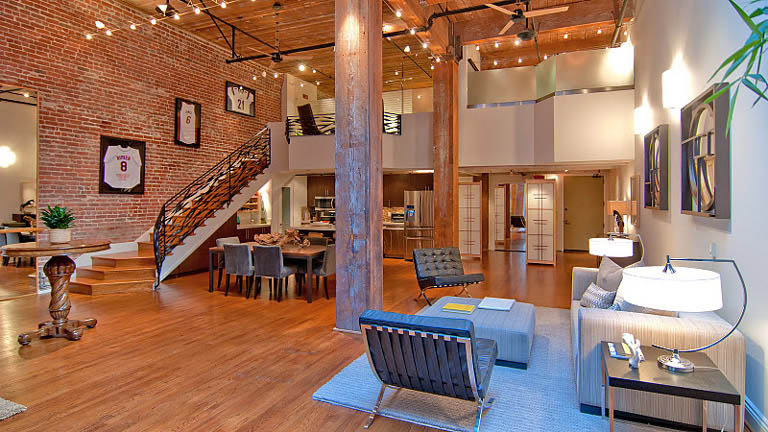 open concept hard loft exposed brick south beach san francisco 355 bryant 8 Stunning Open Concept Loft with Exposed Brick
