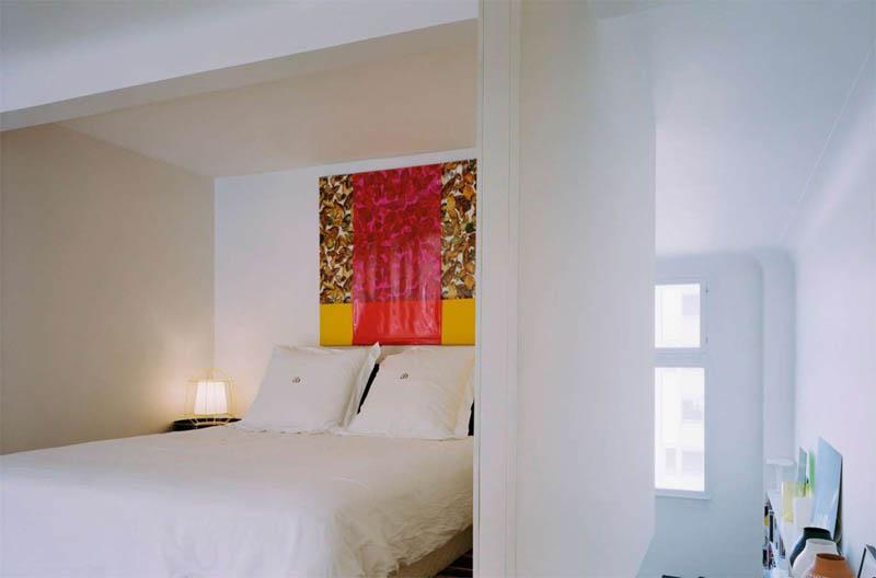 open concept loft bachelor apartment with hanging bedroom ecdm valentin 13 Unique Loft Space with Hanging Bedroom