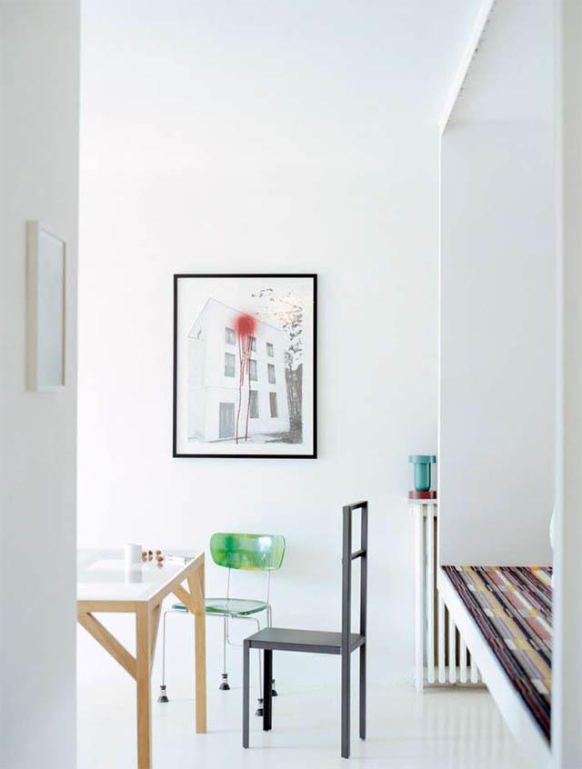 open concept loft bachelor apartment with hanging bedroom ecdm valentin 17 Unique Loft Space with Hanging Bedroom