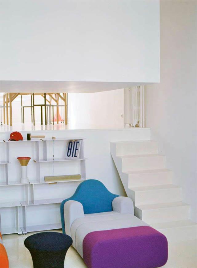open concept loft bachelor apartment with hanging bedroom ecdm valentin 9 Unique Loft Space with Hanging Bedroom