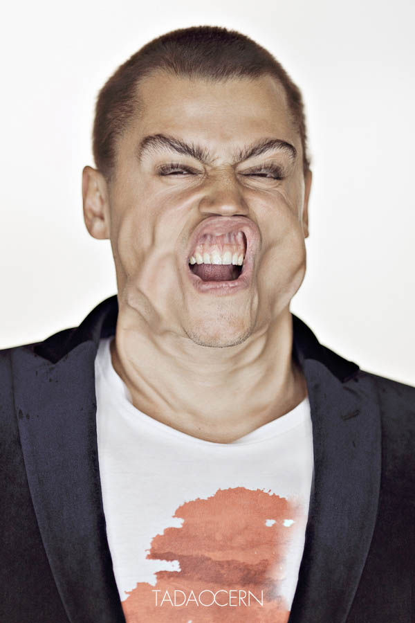 portraits of faces blasted with wind tadao cern 2 15 Haunted House Photos of Terrified People