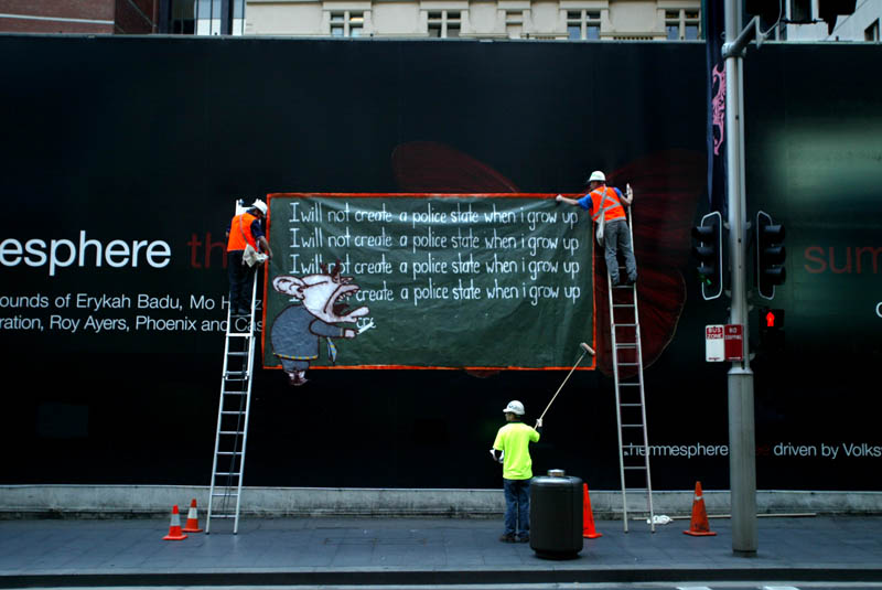 preventative detention 4 september 2005 c dean sewell Billboard Bandits: An Intimate Portrayal of Culture Jamming