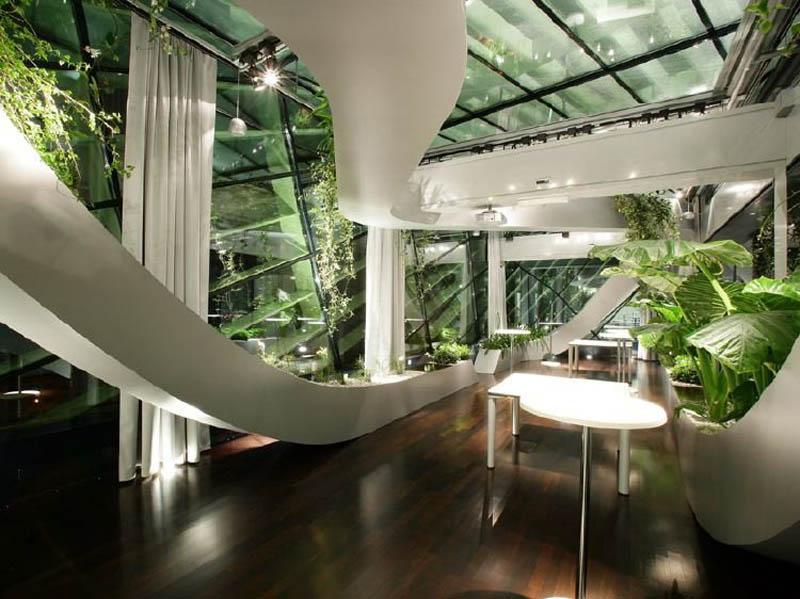 rooftop meeting space with swopping lush panoramic interior garden 6 Amazing Rooftop Boardroom with Panoramic Indoor Garden