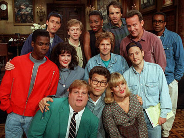 satrday night live cast 1990s farley sandler rock spade franken hartman The Most Epic Group Photos You Will See Today