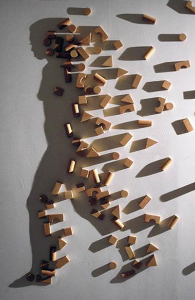 shadow art building blocks kumi yamashita 12 Optical Illusions Made from Shadows