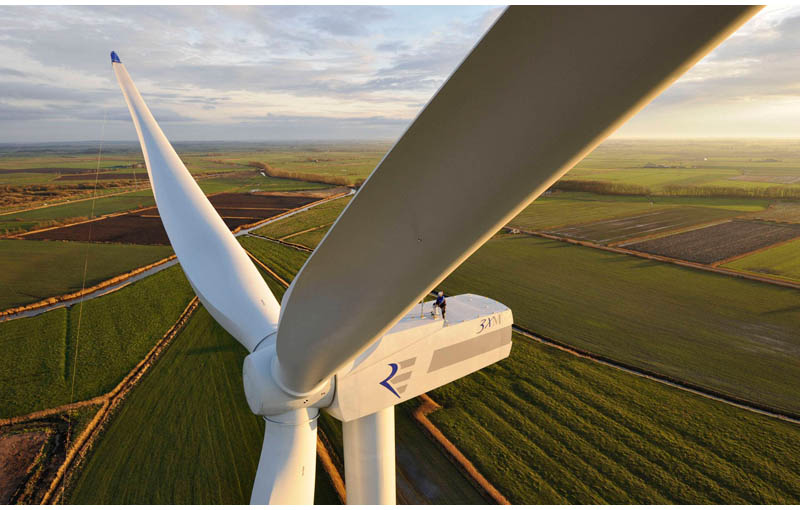 standing on top of a wind turbine Picture of the Day: Standing Atop a Wind Turbine