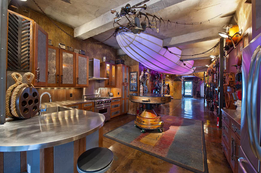 Crazy Steampunk Apartment in New York City