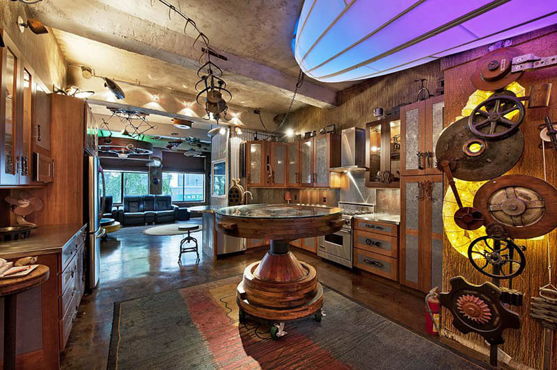 steampunk apartment new york city 2 Crazy Steampunk Apartment in New York City