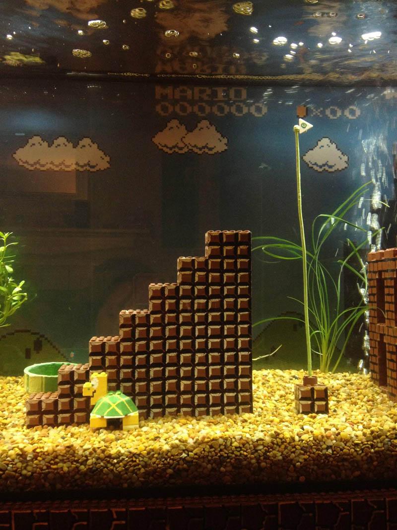 super mario fish tank aquarium 1 This Super Mario Fish Tank is Awesome