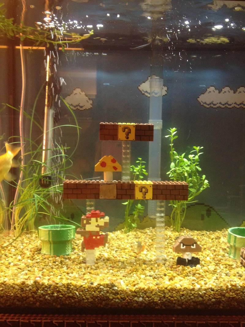 super mario fish tank aquarium 3 This Super Mario Fish Tank is Awesome
